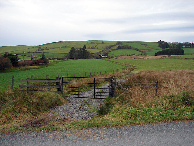 Farmland near Llwynygog