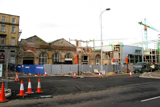 Paragon Station under renovation