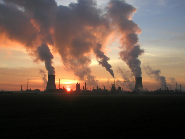 Steamy Sunset over Saltend