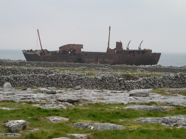 Wreck of the 'Plassy'. Inisheer