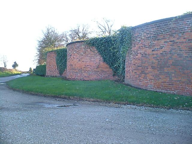 Langley Hall perimeter wall