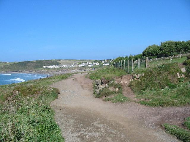 South  West Coast Path Polzeath Cornwall