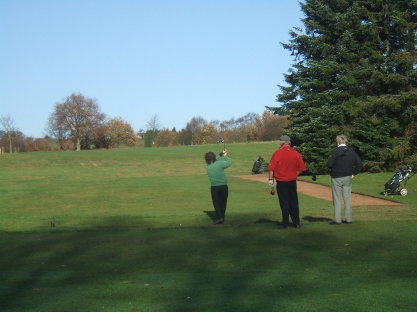 Golfers on Penn Common