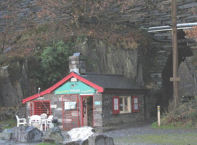 The Vivian Quarry Diving Centre and the Entrance Arch to Vivian Quarry