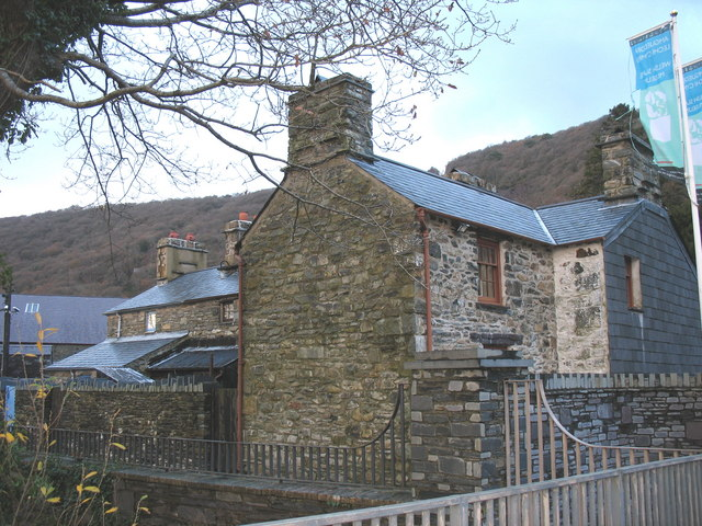 A rear view of the Fron Haul Terrace at the Welsh Slate Museum