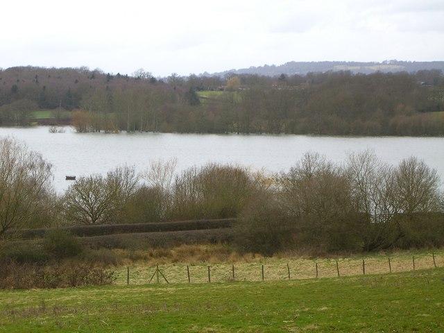 View of Bough Beech Reservoir