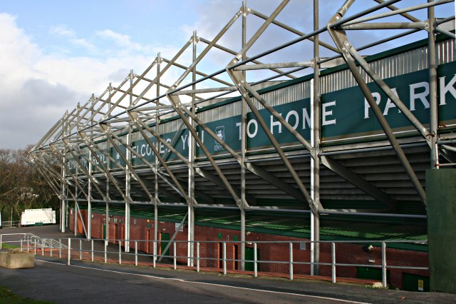 Home Park, the home of Plymouth Argyle Football Club