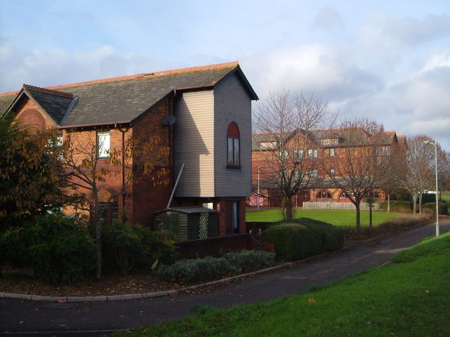 Housing beside the River Exe, Exeter