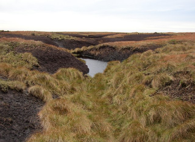 Pond in the peat, Way Stone Edge, Rishworth, Ripponden CP