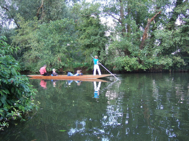 Punting on the Cherwell in Oxford