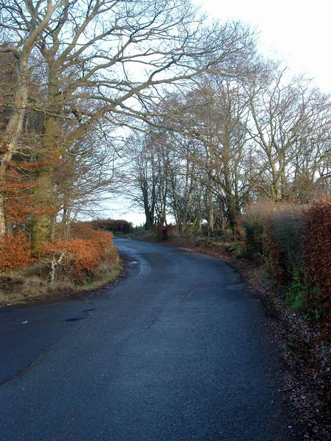 Minor road junction south of Lesmahagow