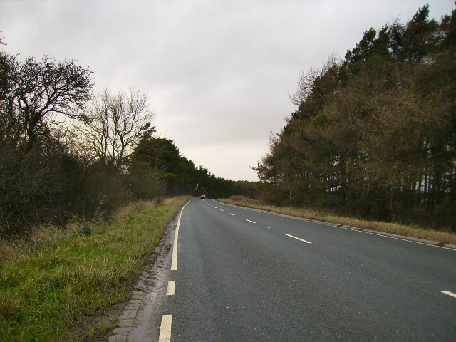The A170 3 Km east of Sutton Bank