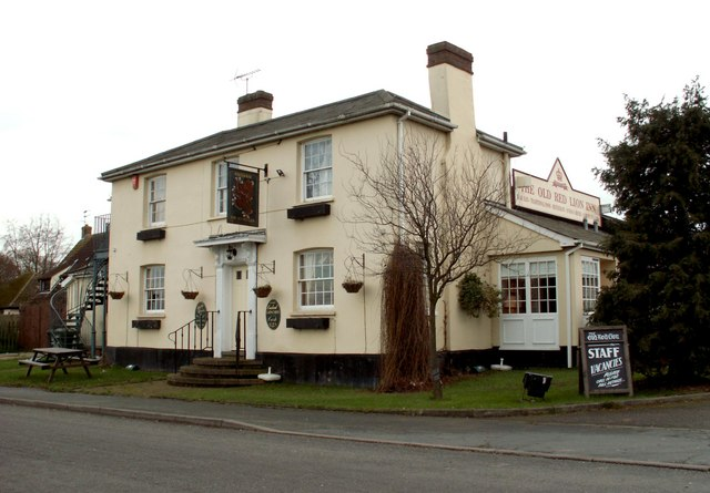 'The Old Red Lion Inn' at Horseheath, Cambs.