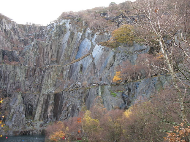 The eastern section of Chwarel Vivian Quarry