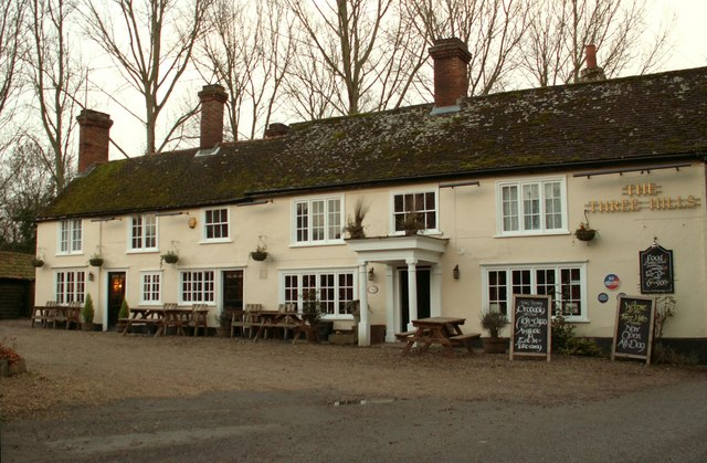 'The Three Hills' inn, Bartlow, Cambs.