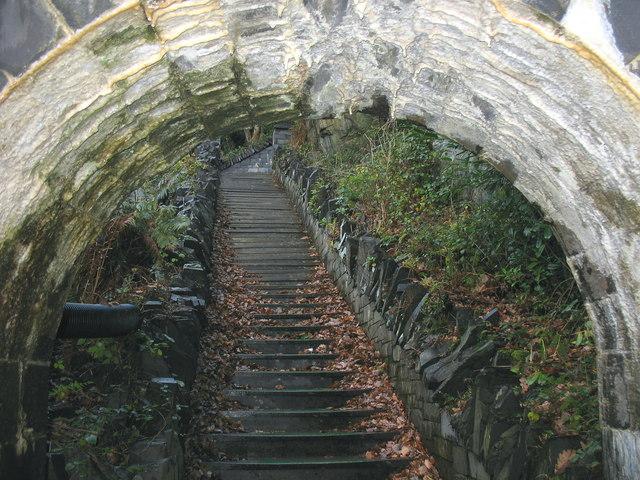 The Vivian Steps through the entrance arch