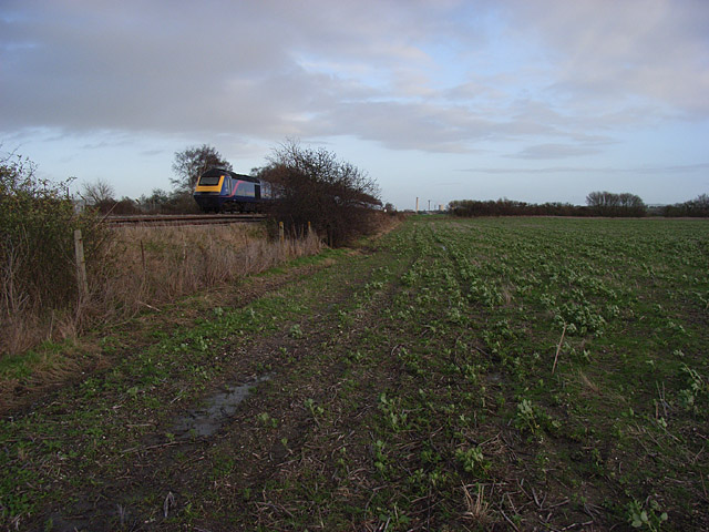 Farmland beside the railway, Steventon