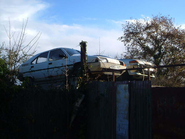 Cars at scrap yard, Woodlands