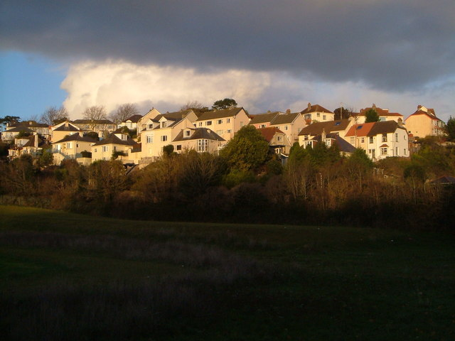 Houses on Lower Audley Avenue, Torquay