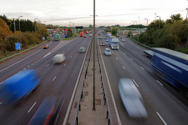 The M1 at Watford Gap