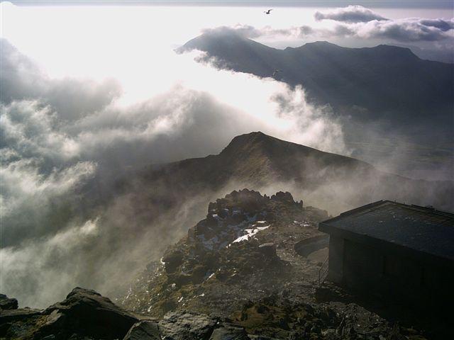 Bwlch Main from summit of Yr Wyddfa