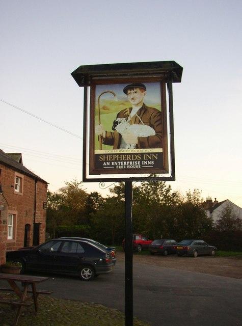 Inn sign, Melmerby, Ousby CP