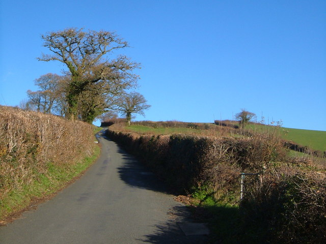 Lane from Veet Mill Farm to Hooperton Cross