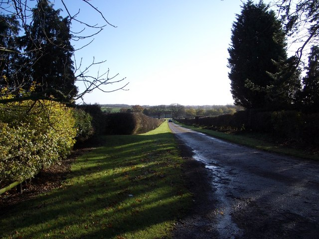 Driveway to Snelson Manor