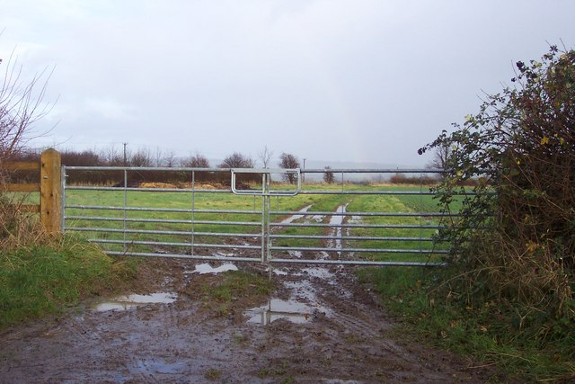 Gate and muddy track