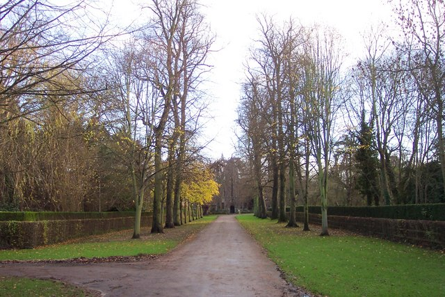 Avenue leading to The Priory at Nun Monkton