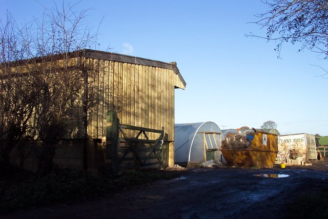 Stable and polytunnels off War Field Lane