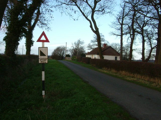 Steep Hill sign, Break House Farm