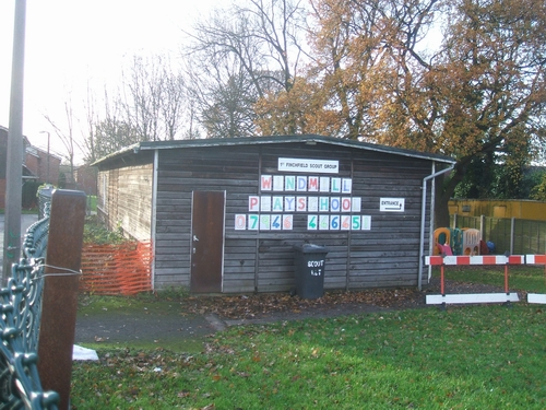 Scout hut and playschool