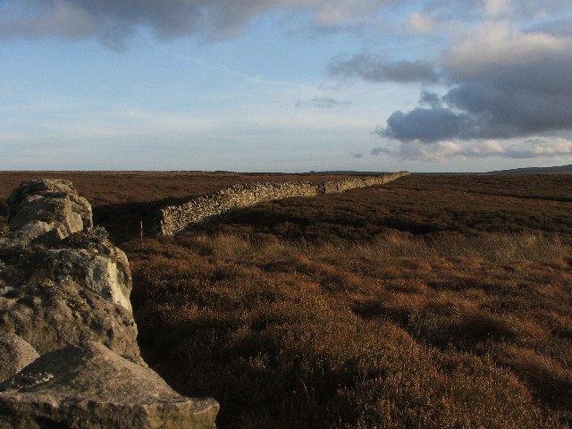 Drystone Wall across Hazel Gill Ridge.