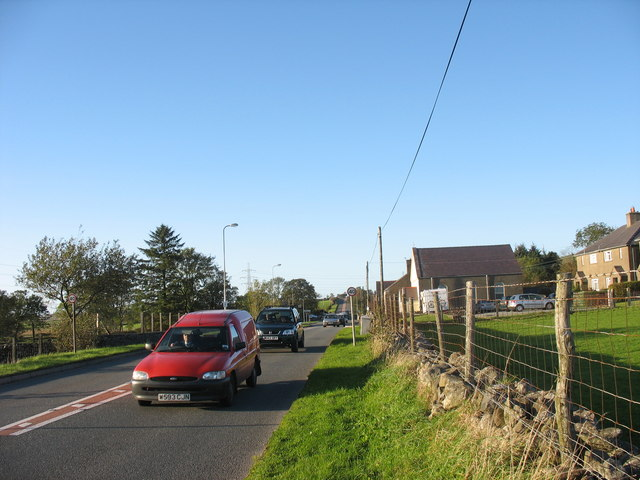 The fast A487(T) Caernarfon to Porthmadog road at Pant-glas