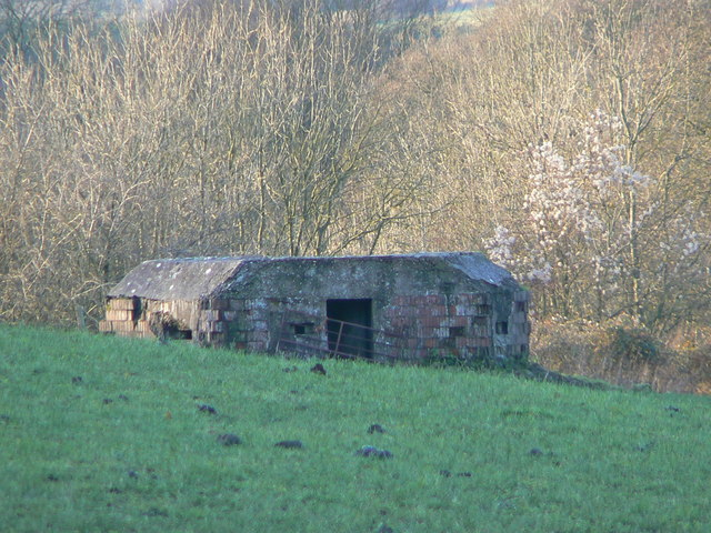 Pillbox above Kennet and Avon canal