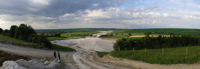 Panorama towards Royston from Baldock bypass