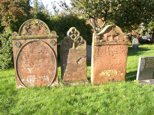 Gravestones in the church yard, Temple Sowerby