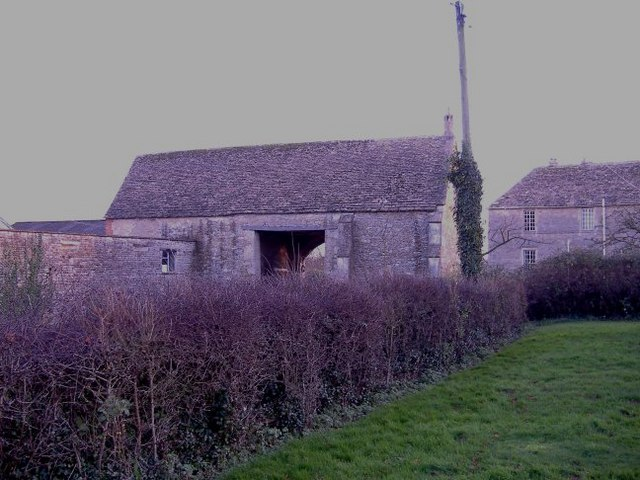 The tithe barn at Lower Seagry.