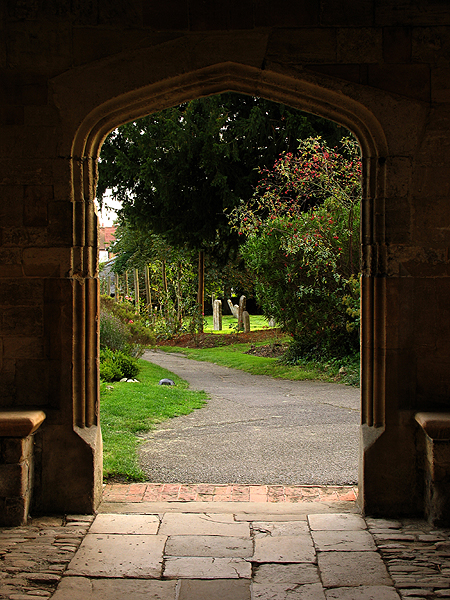 Through the Abbey Entrance