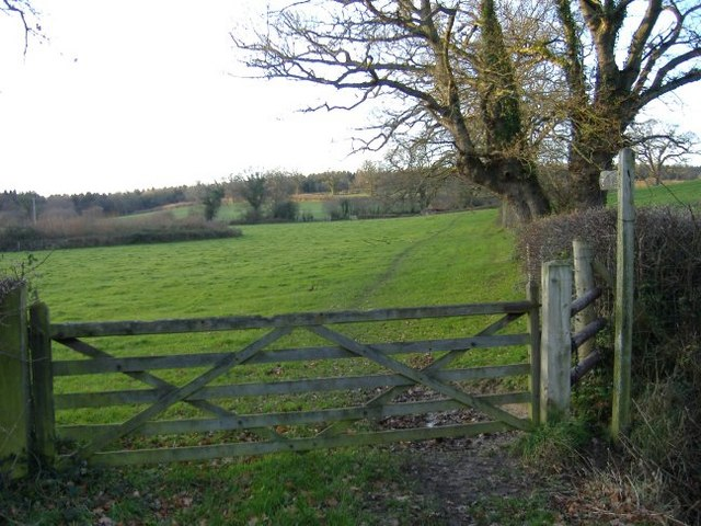Footpath to Seagry Woods.