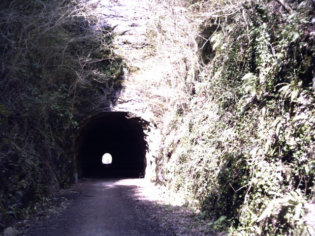 'Strawberry Line' south entrance to Shute Shelve Hill tunnel