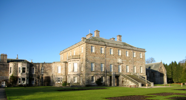 Haddo House in early winter