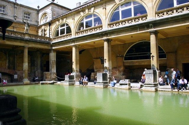 The Roman Baths at Bath, Somerset