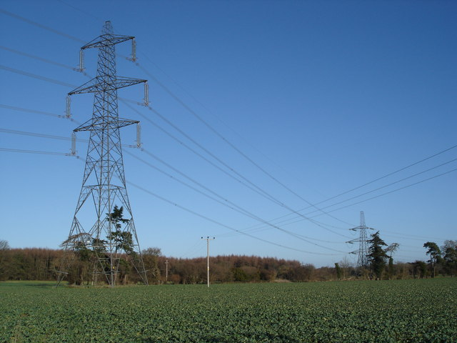 Pylons south of Fryern Court Wood