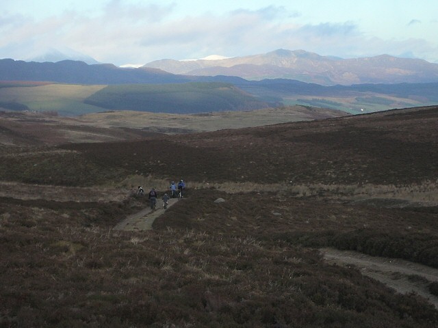 Small cyclists in a big landscape