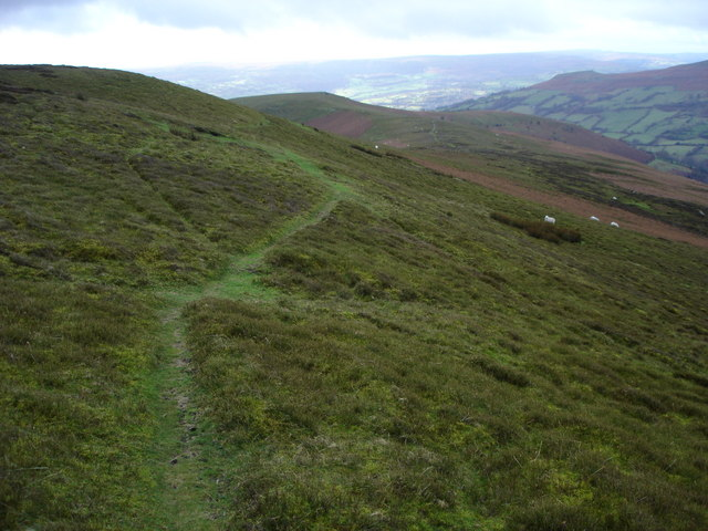 Beacons Way to the south-west of Crug Mawr