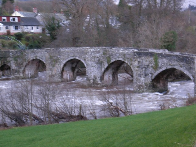 Llangynidr Bridge, in winter