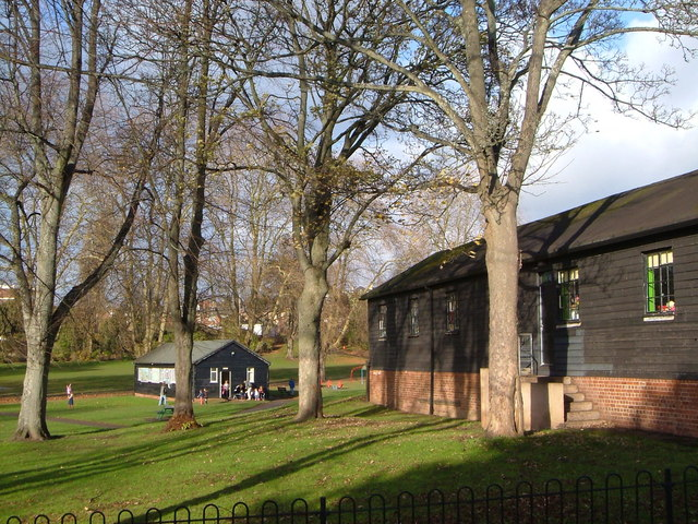 Huts in Belmont Park, Exeter