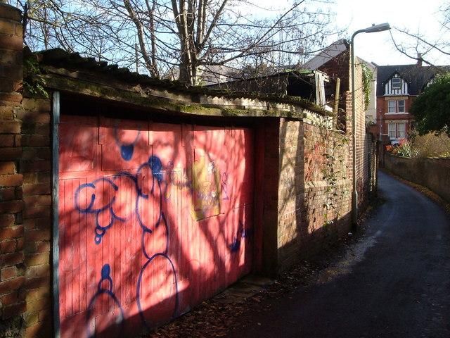 Garage door, Jesmond Road, Exeter